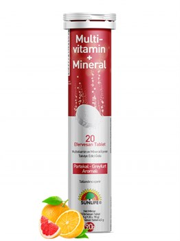SUNLIFE MULTİ – VİTAMİN + MİNERAL